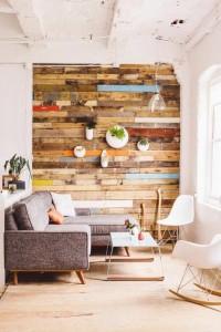 con madera reciclada
