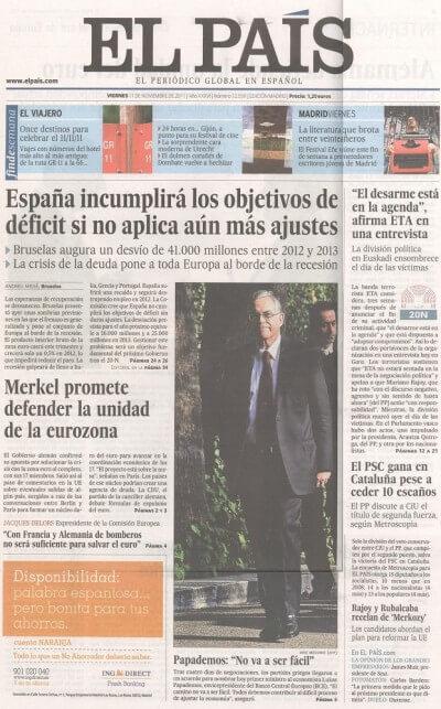 El Pais - Caffe Dei Poeti - Prensa Eleonce