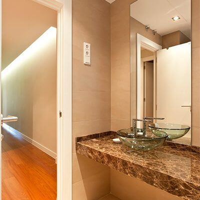 Diseño baño vivienda Madrid Eleonce.