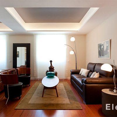 Interiorismo decoración salón Madrid Eleonce.