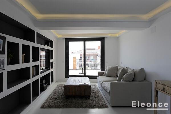 Interiorismo salón comedor ático Madrid Eleonce - Eleonce ...