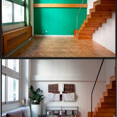 Decoración interior salón piso Madrid Eleonce