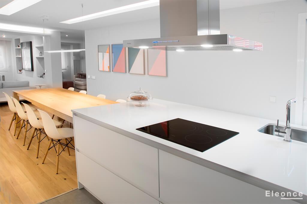 Diseño cocina americana piso Aravaca Eleonce - Eleonce Arquitectura ...