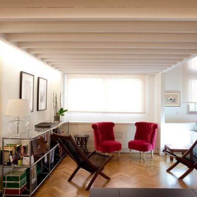 Interiorismo salón piso Chamberi Madrid Eleonce
